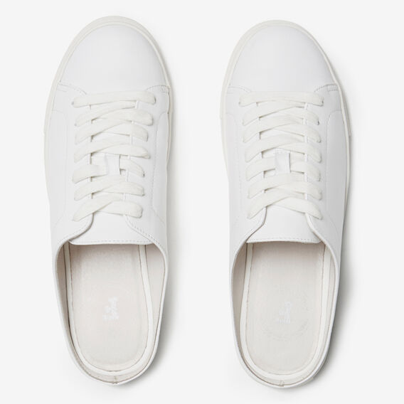 BACKLESS LEATHER SNEAKERS  WHITE  hi-res