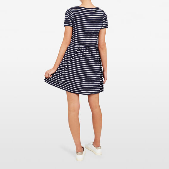 ALL DAY STRIPE DRESS  NOCTURNAL/SUMMER WHI  hi-res