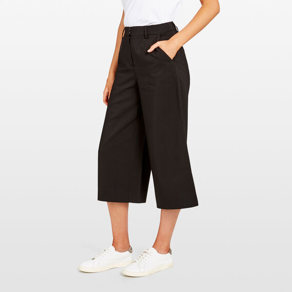 WIDE LEG PANT  BLACK  hi-res