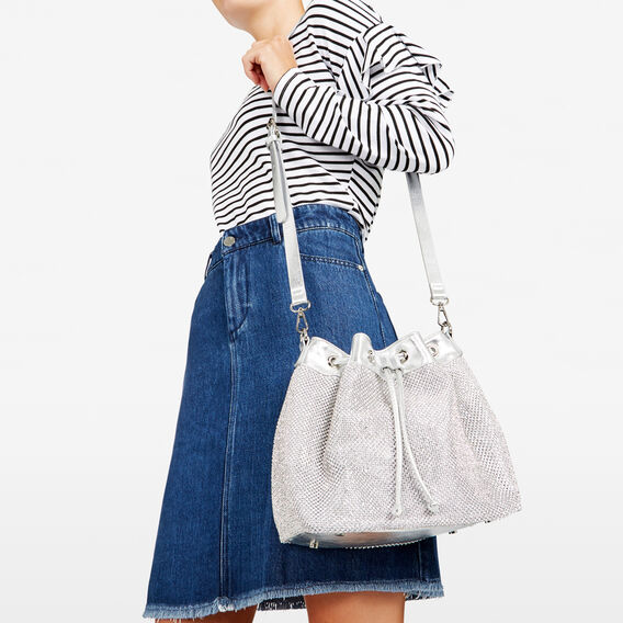 SPARKLE BUCKET BAG  SILVER  hi-res