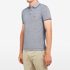 OXFORD PIQUE POLO  MARINE BLUE  hi-res