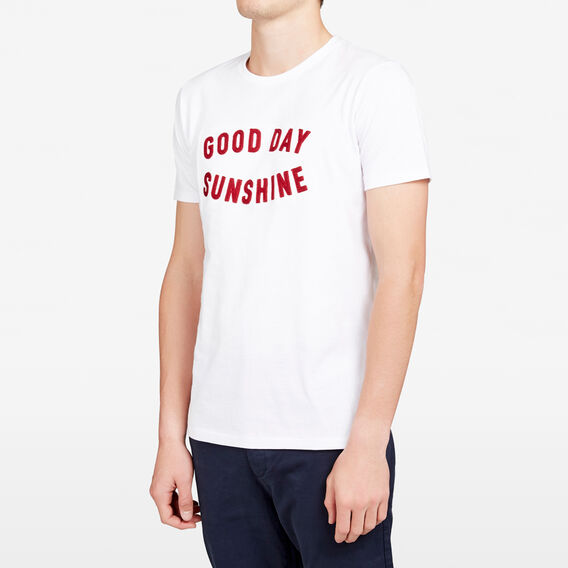GOOD DAY SUNSHINE CREW NECK T-SHIRT  WHITE  hi-res