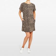 OCELOT PRINTED SWEATER DRESS  MULTI  hi-res