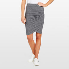 WINTER ROUCHED SKIRT  CHARCOAL MARLE  hi-res