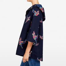BOTANICAL BIRD PONCHO  NOCTURNAL MULTI  hi-res