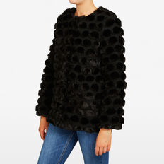 FLUFFY SPOT JACKET  BLACK  hi-res