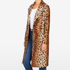 OCELOT FAUX FUR COAT  MULTI  hi-res