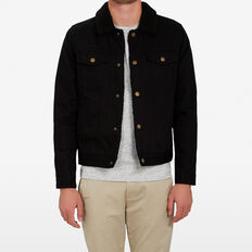 DENIM SHERPA JACKET  BLACK  hi-res