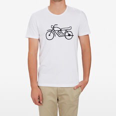 MOTORCYCLE T-SHIRT  WHITE  hi-res