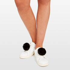 POM POM SHOE ACCESSORY  BLACK  hi-res