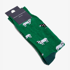 SHEEP 1 PK SOCKS  MEADOW GREEN  hi-res