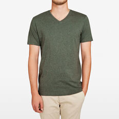 CLASSIC V NECK T-SHIRT  LIGHT OLIVE MARLE  hi-res