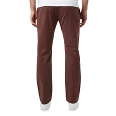 REGULAR FIT STRETCH CHINO PANT  BURNT AUBERGINE  hi-res