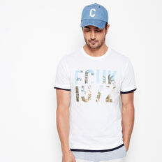FCUK PALMS CREW NECK T-SHIRT  WHITE  hi-res