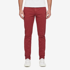 SLIM FIT STRETCH CHINO PANT  COLLEGE RED  hi-res