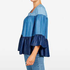 CHAMBRAY OMBRE SWING SHIRT  MULTI  hi-res