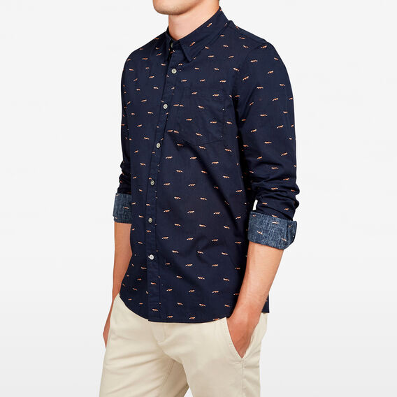 LET'S FOX SLIM FIT SHIRT  OXFORD BLUE  hi-res