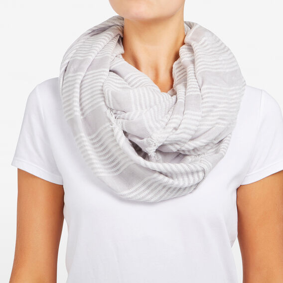 DOUBLE STITCH INFINITY SCARF  GREY/SUMMER WHITE/YE  hi-res