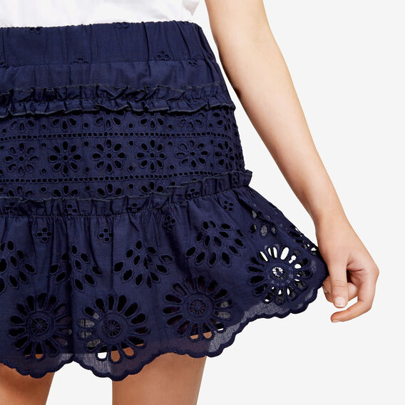 BROIDERIE TIERED SKIRT  NOCTURNAL  hi-res