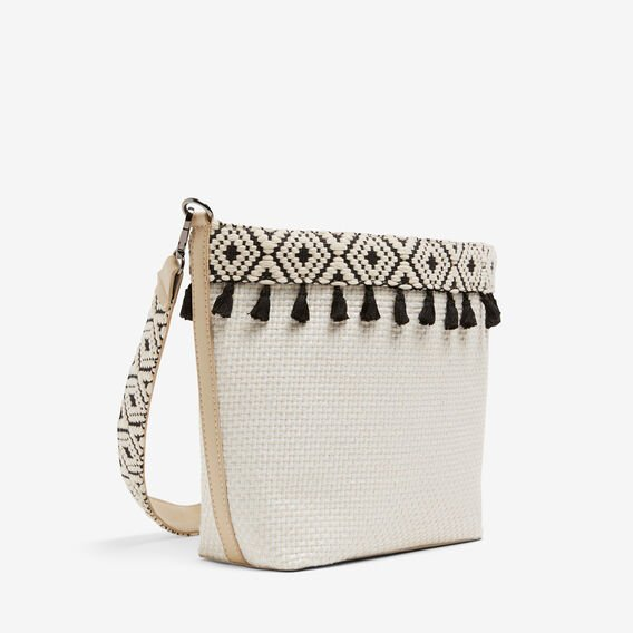 STRUCTURED POM POM BUCKET BAG  STONE MULTI  hi-res