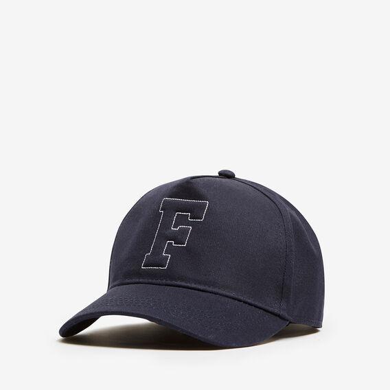 VARSITY F CAP  NAVY  hi-res