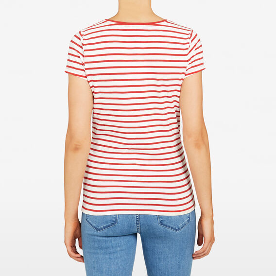 HAYLEY STRIPE  SUMMER WHT/STRAWBERR  hi-res