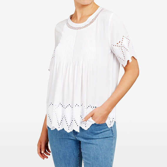 BABYDOLL BROIDERIE SHIRT  SUMMER WHITE  hi-res