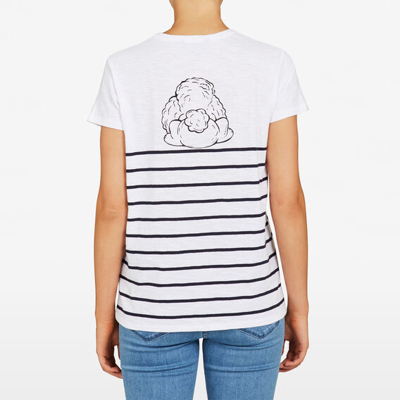 PEEK-A-BOO POODLE TEE  SUMMER WHITE MULTI  hi-res