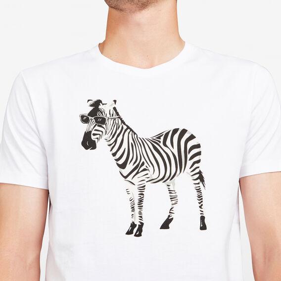 ZEBRA CREW NECK T-SHIRT  WHITE  hi-res