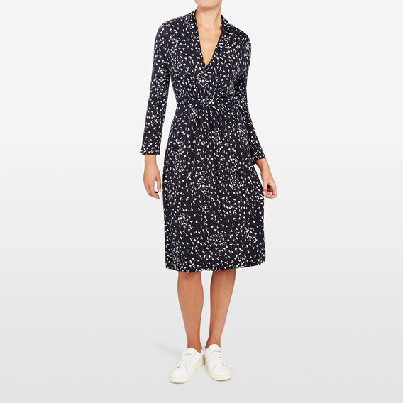 KOMO MEADOW WRAP DRESS  NOCTURNAL/SUMMER WHI  hi-res