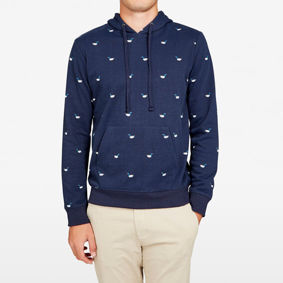 ALL OVER BIRD SWEAT HOODIE  MARINE BLUE  hi-res