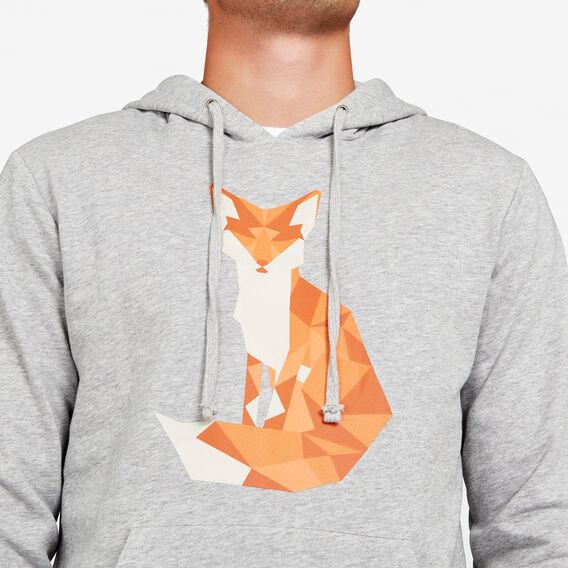 GEO FOX SWEAT HOODIE  GREY MARLE  hi-res