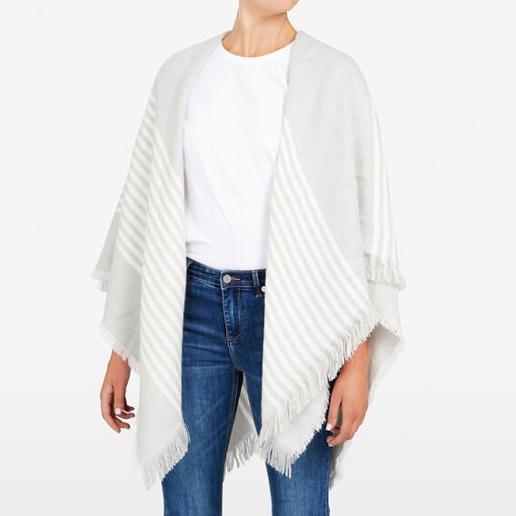 BLANKET SCARF  GREY MARLE/SUMMER WH  hi-res