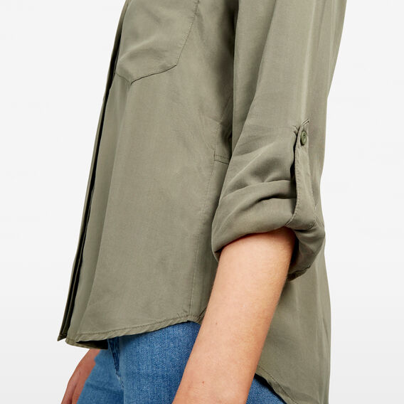 AUTUMN BUTTON THROUGH SHIRT  KHAKI  hi-res