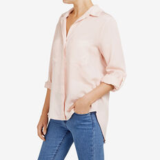 AUTUMN BUTTON THROUGH SHIRT  LIGHT PINK  hi-res