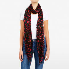 FIELD OF POPPIES SCARF  BLACK/MULTI  hi-res
