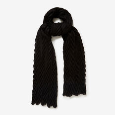 CHEVRON SCARF  BLACK  hi-res