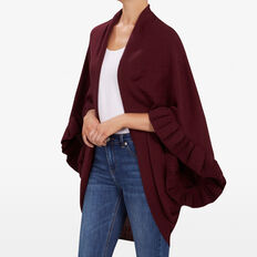 RUFFLE DETAIL WRAP  BURGANDY  hi-res