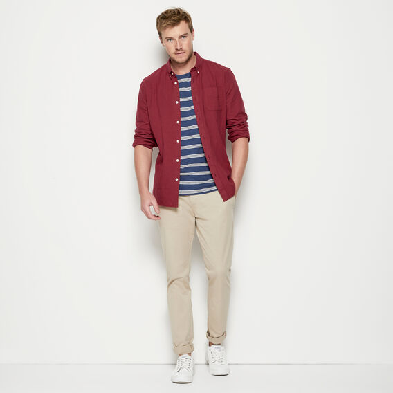 TRIPLE STRIPE CREW NECK T-SHIRT  OXFORD BLUE/LT STONE  hi-res
