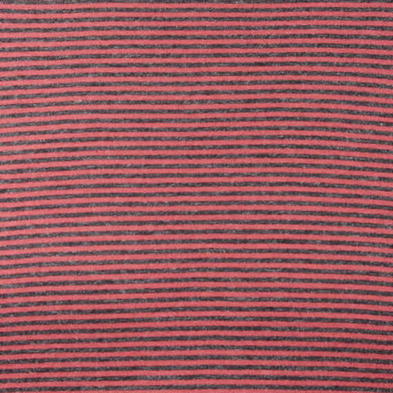 COLLEGE STRIPE LONG SLEEVE T-SHIRT  COLLEGE RED/CHARCOAL  hi-res