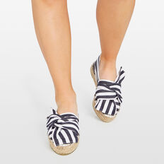 STRIPE BOW FRONT ESPADRILLE  SUMMER WHITE/NAVY  hi-res