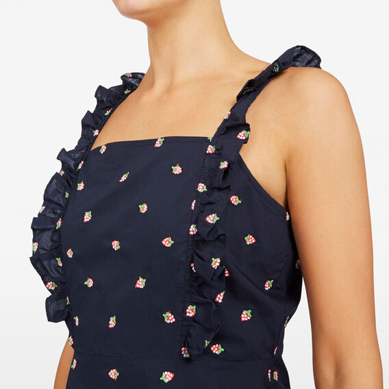 EMBROIDERED STRAWBERRY DRESS  NOCTURNAL/STRAWBERRY  hi-res