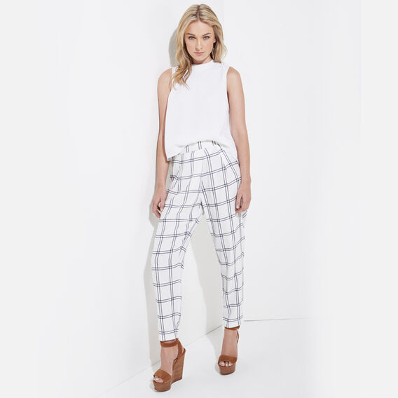 SOFT PRINTED CHECK PANT  MULTI  hi-res