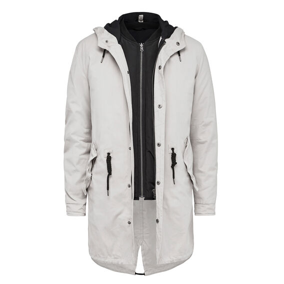 OSCAR 2-IN-1 PARKA AND BOMBER JACKET  CLAY  hi-res