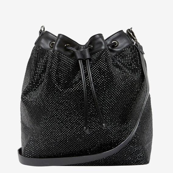 LARGE SPARKLE BUCKET BAG  JET BLACK  hi-res
