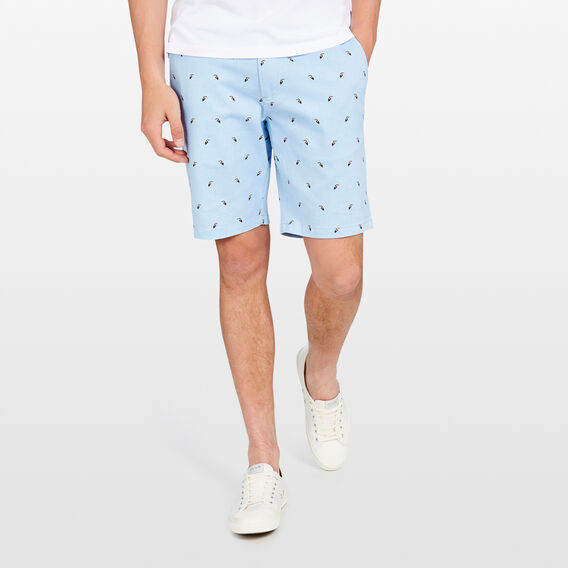 TOUCAN PRINTED SHORT  SKY BLUE  hi-res