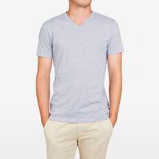 CLASSIC V NECK T-SHIRT  LIGHT BLUE MARLE  hi-res