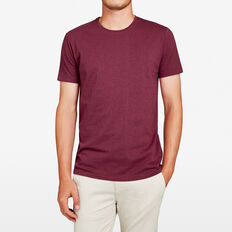 CLASSIC CREW NECK T-SHIRT  LIGHT BURGUNDY MARL  hi-res