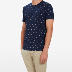 ALL OVER YARDAGE T-SHIRT  MARINE BLUE  hi-res