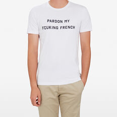 SLOGAN T-SHIRT  WHITE  hi-res